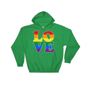 Hooded Sweatshirt - Lgbt Love Irish Green / S