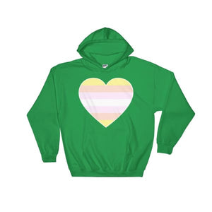 Hooded Sweatshirt - Pangender Big Heart Irish Green / S