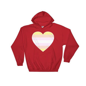Hooded Sweatshirt - Pangender Big Heart Red / S