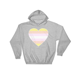 Hooded Sweatshirt - Pangender Big Heart Sport Grey / S