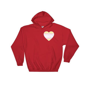Hooded Sweatshirt - Pangender Heart Red / S