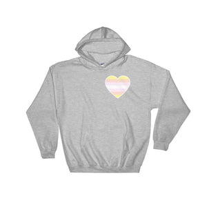 Hooded Sweatshirt - Pangender Heart Sport Grey / S