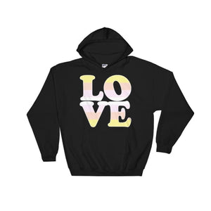 Hooded Sweatshirt - Pangender Love Black / S