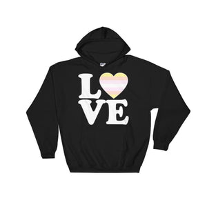 Hooded Sweatshirt - Pangender Love & Heart Black / S