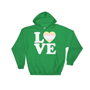 Hooded Sweatshirt - Pangender Love & Heart Irish Green / S