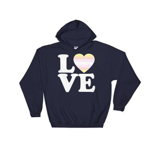 Hooded Sweatshirt - Pangender Love & Heart Navy / S