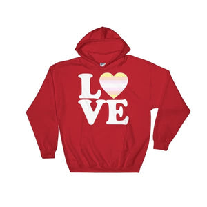 Hooded Sweatshirt - Pangender Love & Heart Red / S
