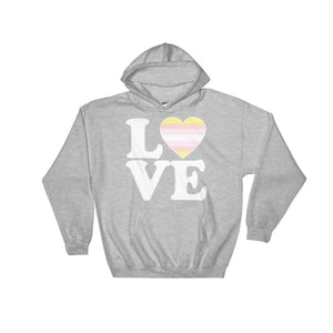 Hooded Sweatshirt - Pangender Love & Heart Sport Grey / S