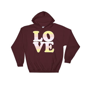 Hooded Sweatshirt - Pangender Love Maroon / S