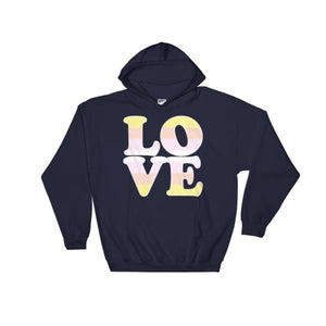 Hooded Sweatshirt - Pangender Love Navy / S
