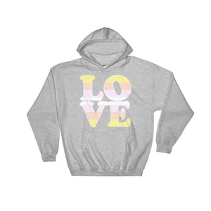 Hooded Sweatshirt - Pangender Love Sport Grey / S