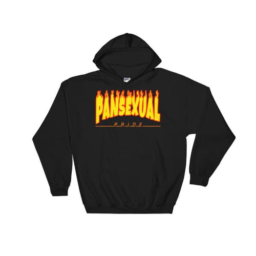 Hooded Sweatshirt - Pansexual Flames Black / S