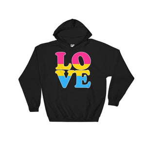 Hooded Sweatshirt - Pansexual Love Black / S