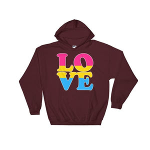 Hooded Sweatshirt - Pansexual Love Maroon / S