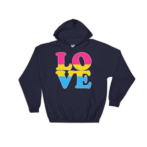 Hooded Sweatshirt - Pansexual Love Navy / S