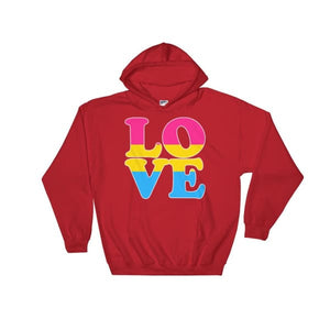 Hooded Sweatshirt - Pansexual Love Red / S