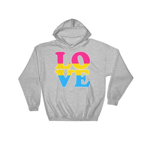 Hooded Sweatshirt - Pansexual Love Sport Grey / S