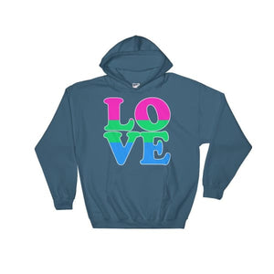 Hooded Sweatshirt - Polysexual Love Indigo Blue / S