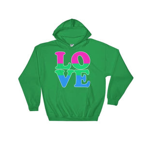 Hooded Sweatshirt - Polysexual Love Irish Green / S