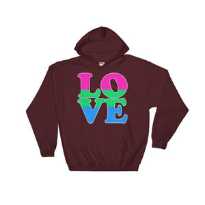 Hooded Sweatshirt - Polysexual Love Maroon / S