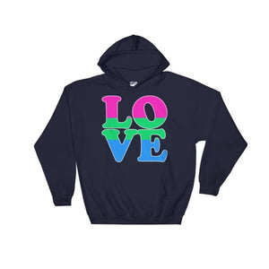 Hooded Sweatshirt - Polysexual Love Navy / S