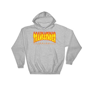 Hooded Sweatshirt - Transgender Flames Sport Grey / S
