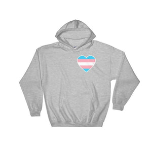 Hooded Sweatshirt - Transgender Heart Sport Grey / S