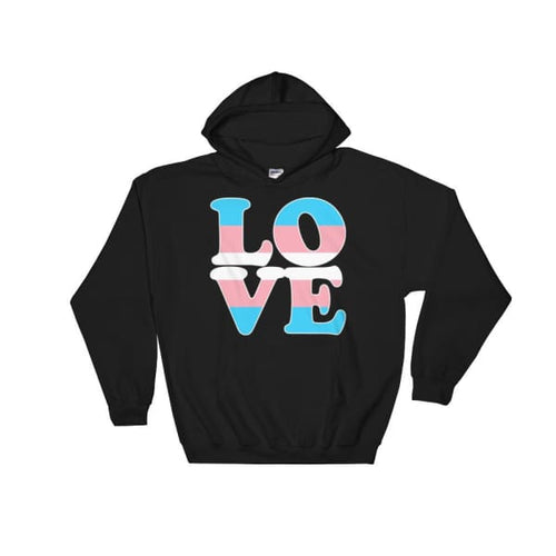 Hooded Sweatshirt - Transgender Love Black / S