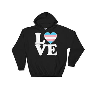 Hooded Sweatshirt - Transgender Love & Heart Black / S