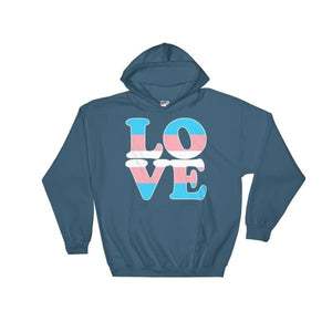 Hooded Sweatshirt - Transgender Love Indigo Blue / S