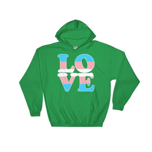Hooded Sweatshirt - Transgender Love Irish Green / S