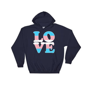 Hooded Sweatshirt - Transgender Love Navy / S