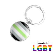 Keychain Double-Sided - 18 Flags Agender