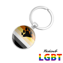 Keychain Double-Sided - 18 Flags Bear Pride