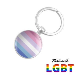 Keychain Double-Sided - 18 Flags Bigender