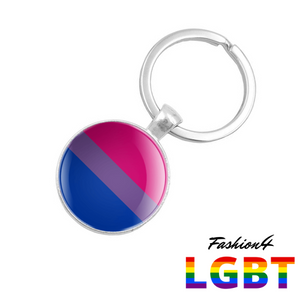 Keychain Double-Sided - 18 Flags Bisexual