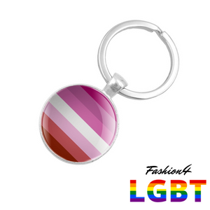 Keychain Double-Sided - 18 Flags Lesbian