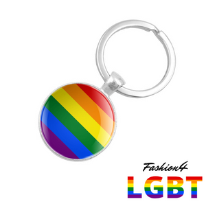 Keychain Double-Sided - 18 Flags Lgbt