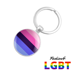Keychain Double-Sided - 18 Flags Omnisexual