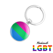 Keychain Double-Sided - 18 Flags Polysexual