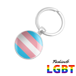Keychain Double-Sided - 18 Flags Transgender