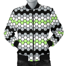 Mens Bomber Jacket - Agender Honeycomb