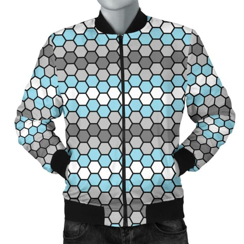 Mens Bomber Jacket - Demiboy Honeycomb