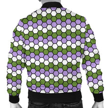 Mens Bomber Jacket - Genderqueer Honeycomb