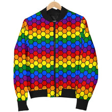 Mens Bomber Jacket - Lgbt Honeycomb