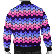 Mens Bomber Jacket - Omnisexual Honeycomb