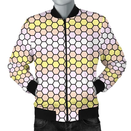 Mens Bomber Jacket - Pangender Honeycomb