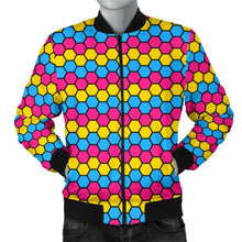 Mens Bomber Jacket - Pansexual Honeycomb