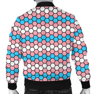 Mens Bomber Jacket - Transgender Honeycomb Style
