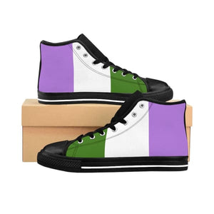 Mens High-Top Sneakers - Genderqueer Us 10 Shoes